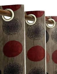 Brown Patterned Curtains Patterned Curtains Brown Bedroom Sheer Eyelet Size Of