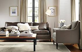 room and board leather sofa pretty neutral living room room board catalog brown leather
