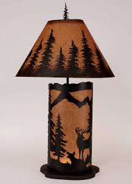 Cabin Light Fixtures by Cabin Decor Table Lamps Cabin Decor Western Decor