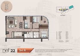 Floor Plan O2 by Atakoy Residence Istanbul Real Estate