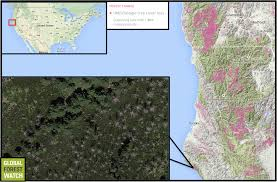 Southern Oregon Map by Scientists Warn Of Global Warming Threat To Temperate Rainforests