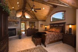Rustic Bedroom Ideas Country Master Bedroom With High Ceiling Hardwood Floors Samson