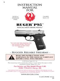 ruger p95 owners manual trigger firearms handgun