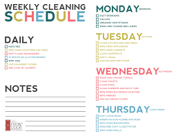 Bathroom Cleaning Schedule Form Prepossessing Bedroom Cleaning List With Additional Bathroom