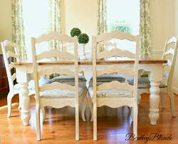 White Dining Room Furniture Sets Bentleyblonde Diy Farmhouse Table Dining Set Makeover With