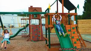 Heartland Swing Set Furniture Gorilla Playsets Blue Ridge Swing Set With Green Slides