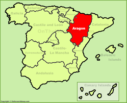 A Map Of Spain by Aragon Location On The Spain Map