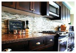 glass tile backsplash with dark cabinets backsplash for dark cabinets kitchen ideas for dark cabinets with