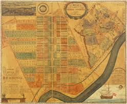 Maps Of Pa Early Map Of Reading Pennsylvania With Wonderful Folk Art