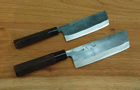 japanese vegetable knife kurouchi nakkiri knife 120mm 150mm