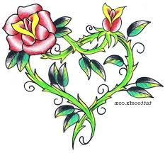 heart and flowers tattoo hearts with roses tattoos tattoo collection