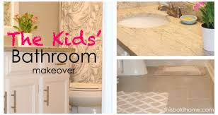 Kids Bathroom Makeover - bathroom makeover archives this bold home