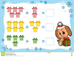 counting game for children addition worksheets christmas gifts