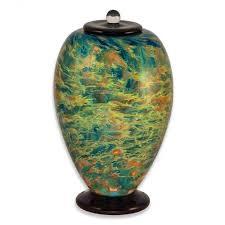 cremation urns for adults blown glass cremation urn for adults in deco sky urns northwest