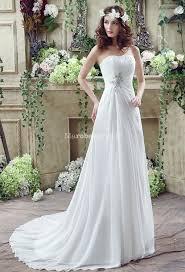 robe de mariage simple robe de mariée sobre coupe simple mousseline