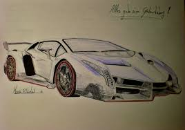 car lamborghini drawing drawings and sketches while studying car lamborghini veneno for
