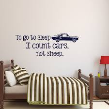 Wall Decal Quotes For Nursery by To Go To Sleep I Count Cars Not Sheep Wall Decal Quote Wall