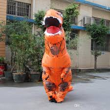 Rex Halloween Costumes Disfraces Adultos Orange Rex Costumes Inflatable Ride
