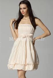 robe beige pour mariage babydoll robe courte féérique sans bretelles pour mariage dos smocké