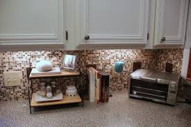 using peel and stick floor tile on kitchen walls waplag backsplash