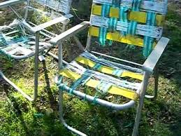 Aluminum Web Lawn Chairs Scrapping A Lawn Chair How Much Is It Worth Youtube