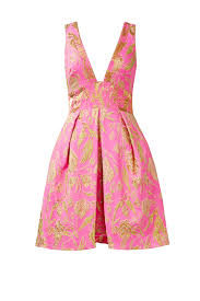 pink metallic floral dress by marchesa notte for 80 90 rent