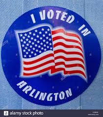 Virginia Flags Arlington Virginia Usa Voting Sticker On Shirt Reading