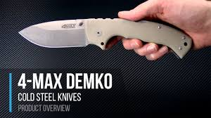 Designer Knife by Cold Steel 4 Max Made In The Usa 62rm Demko Design Folder Overview