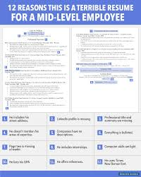 Best Font For Resume Today Show by Horrible Resume For Mid Level Employee Business Insider