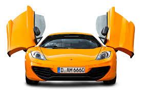 orange cars 2016 orange mclaren 12c front view car png image pngpix