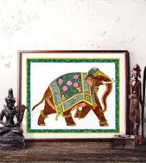 Elephant Home Decor Traditional Elephant Watercolor Painting Indian Elephant Wall Art