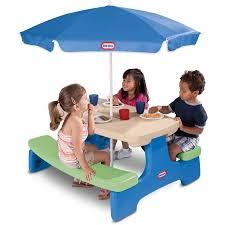little tikes easy store jr picnic table little tikes easy store picnic table with umbrella walmart com