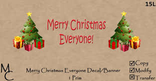 second marketplace merry everyone banner decal