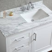 Mirrored Bathroom Vanities Ace 42 Inch Single Sink White Bathroom Vanity With Mirror Small