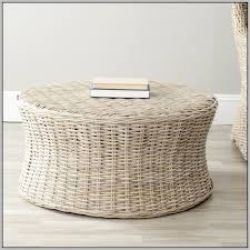 round wicker ottoman coffee table coffee table home decorating