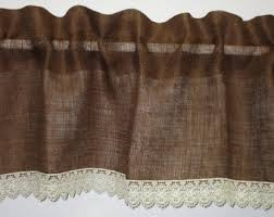 Chocolate Brown Valances For Windows Dark Brown Valance Etsy