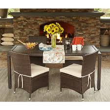 Bjs Patio Furniture by Handy Living Azura 5 Pc Outdoor Dining Set Brown Bj U0027s