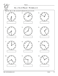 free worksheets time worksheets analog free math worksheets