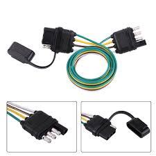 6v 12v 24v 4 pin flat trailer plug light socket wire connector