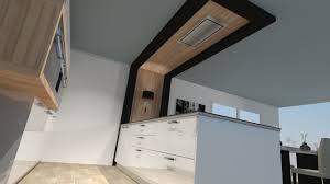 plafond cuisine design ciel de cuisine pour hotte plafond