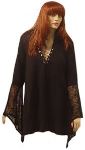Size Gothic Halloween Costumes Sale Size Gothic Witchy Bell Sleeve Extra Long Shirt