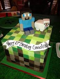 step step tutorial showing minecraft cake