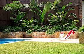 cool chaise lounge for tropical landscape ideas with decorative