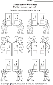 multiplication worksheets grade 1 multiplication worksheets multiply numbers by 1 to 5