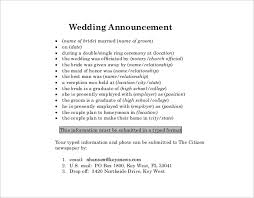 wedding announcement template wedding announcement template 10 free word pdf documents