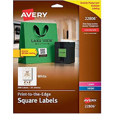 Print Resume At Staples Avery Easy Peel Print To The Edge White Square Labels 2