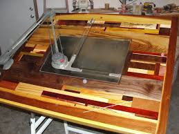 Custom Drafting Tables Drafting Table By Captainahab Lumberjocks Woodworking