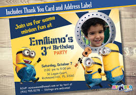 minions birthday invitation customize it with the photo of