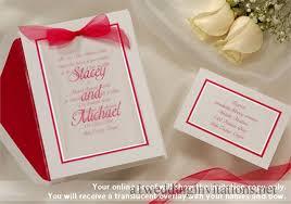 Layered Wedding Invitations Wedding Invitations Pink Border Bows Sheer Layer Top