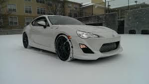frs car white atl snowpocalypse 2014 white car on white snow scion fr s